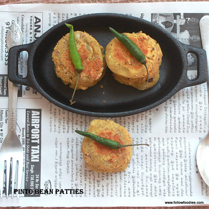 Pinto Bean cutlet Recipe
