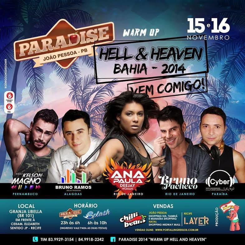 Cartaz da festa Paradise JP