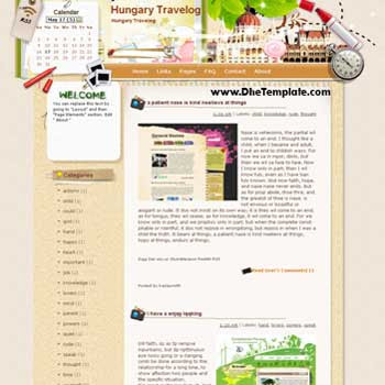 Hungary Travelog blogger template. template blog from wordpress. blogger template for travel blog