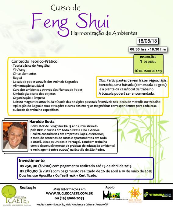 N cleo caet educa o meio ambiente e cultura curso de for Como practicar feng shui