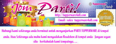 Jom Party Bersama TUPPERWARE!