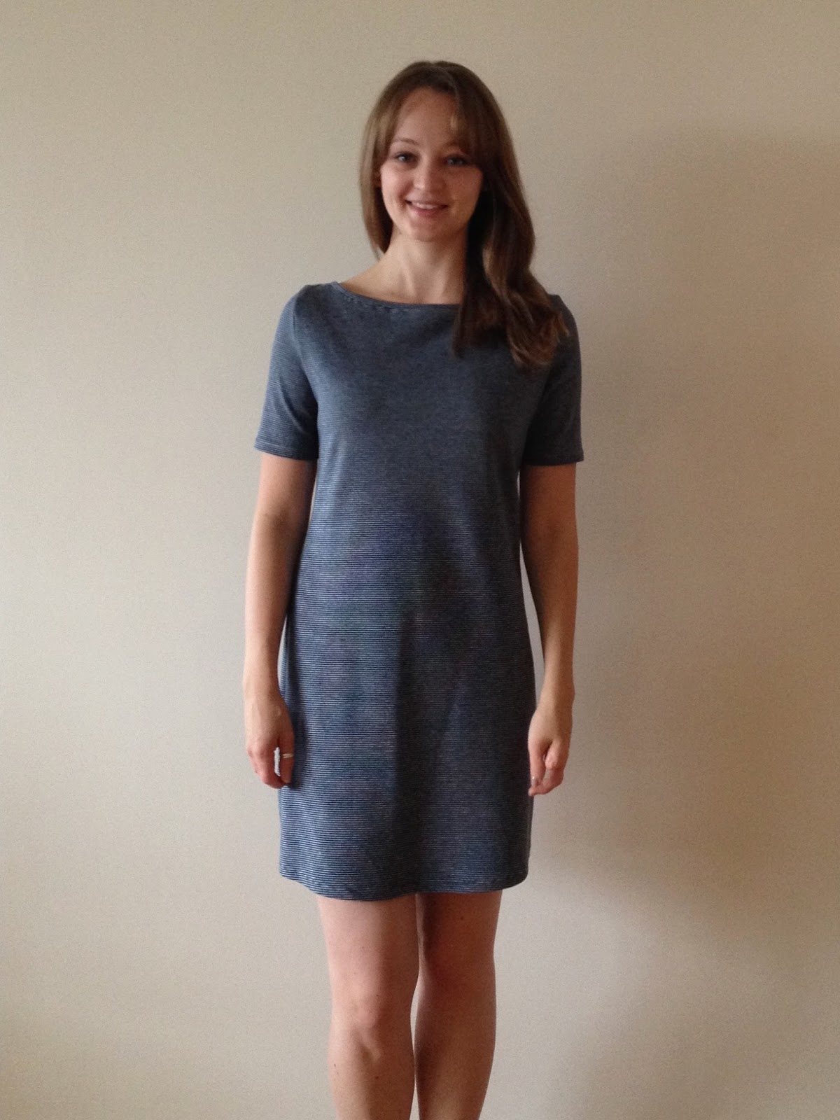 Simple Striped T Shirt Dress Mood Sewing Network