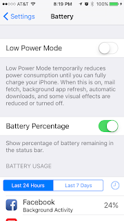 iOS Low Power Mode