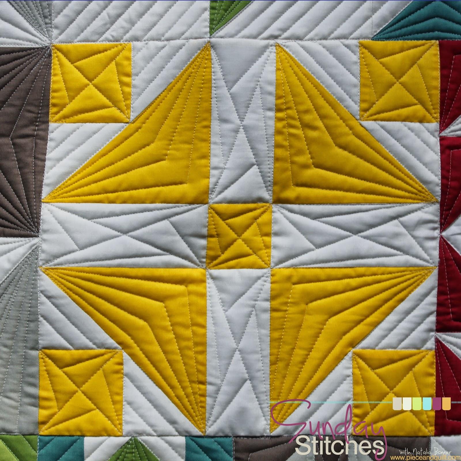 Modern Free Motion Quilting Patterns : Piece N Quilt: How To: Free-Motion Quilt a Modern Pinwheel Block - Sunday Stitches
