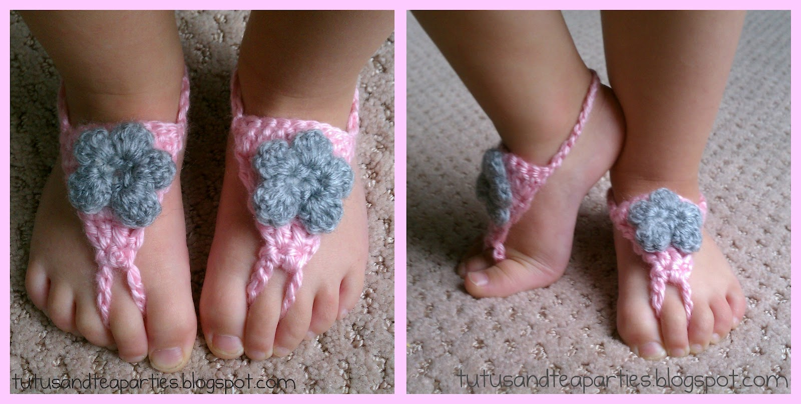 Free Crochet Patterns For Baby Barefoot Sandals