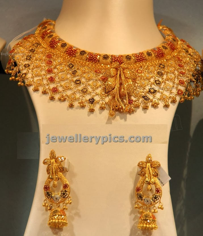 net finish gold wedding choker