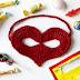 Masque coeur au crochet