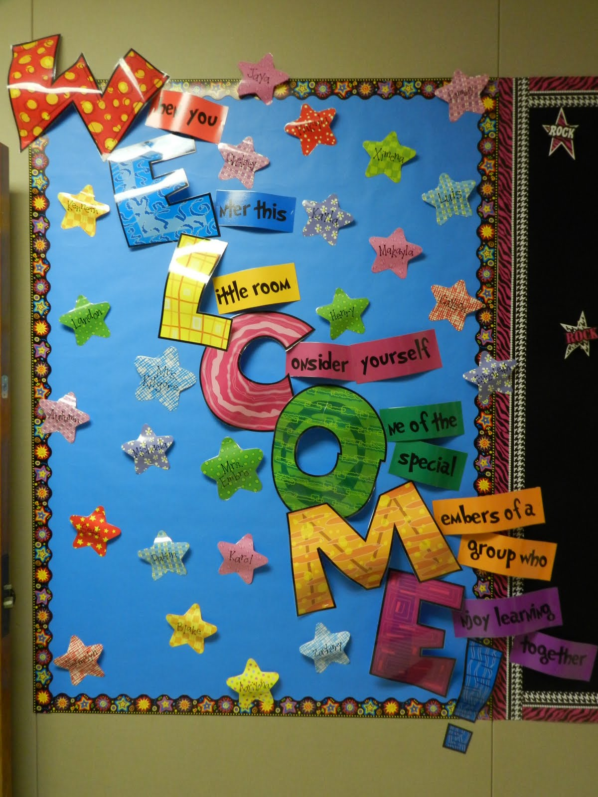 Welcome Back School Bulletin Board Ideas