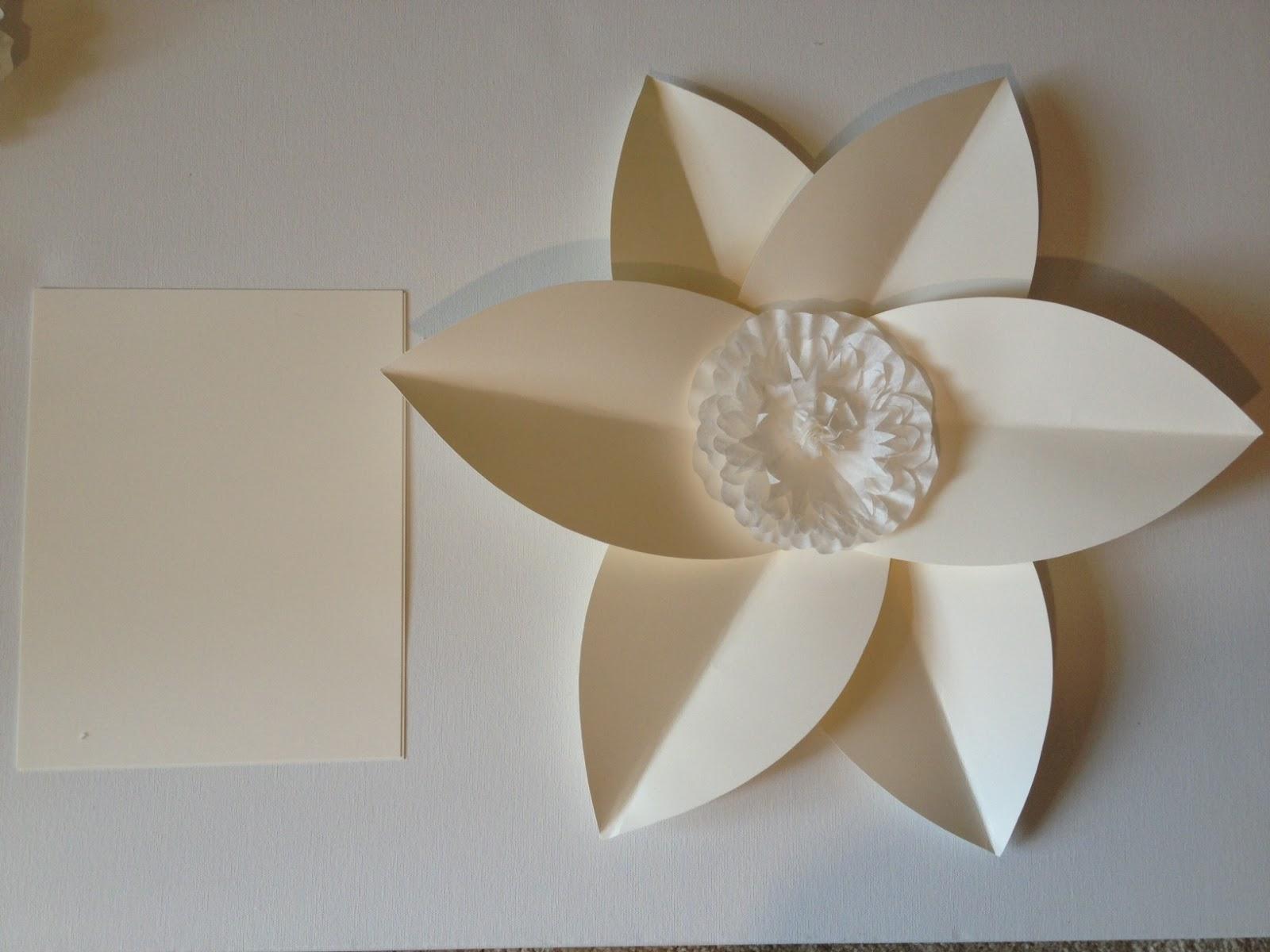 Pancakes & Glue Guns DIY Paper Flower Wall Take 2 Part 2 Card stock Lar
