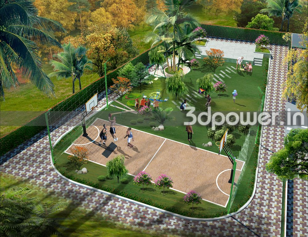 Garden Design Birds Eye View 3d animation, 3d rendering, 3d walkthrough, 3d interior, cut