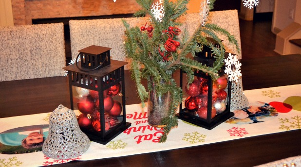 ornament filled lanterns