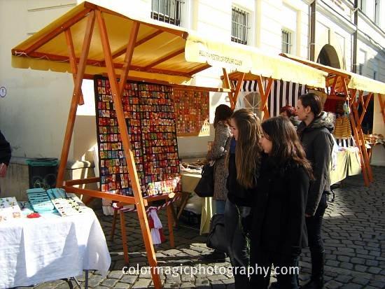 Craftsmen selling Martisor