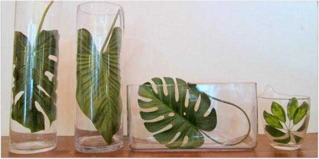 Plantas flores y velas para decorar para disfrutar - Decoracion de jarrones de cristal ...