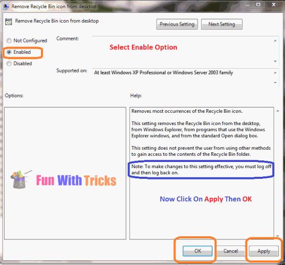 Remove Recycle bin Icon from Desktop_FunWidTricks.Com