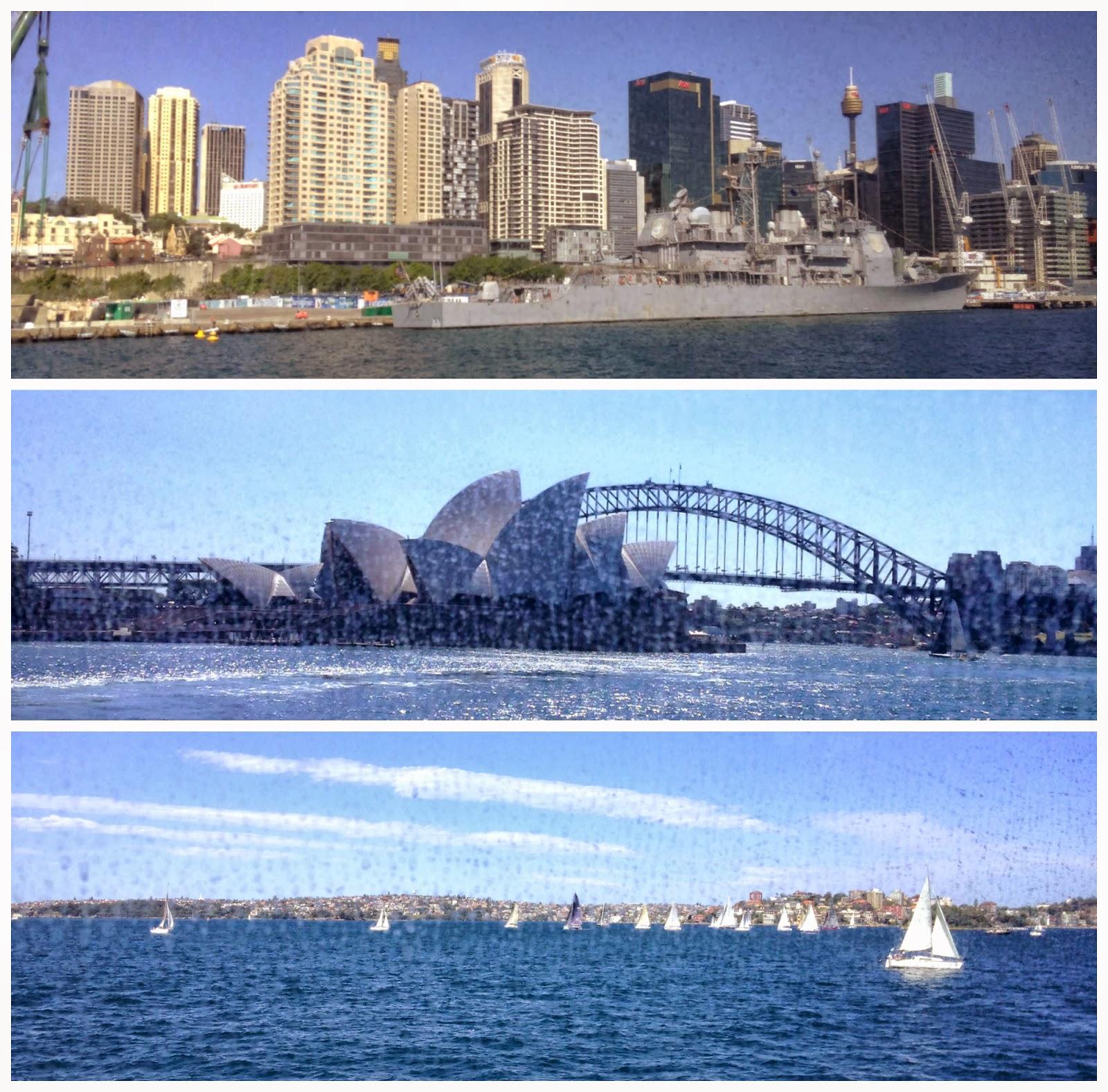 Cruising around Sydney Harbour the Captain Cook Cruises Coffee  #0F59BC