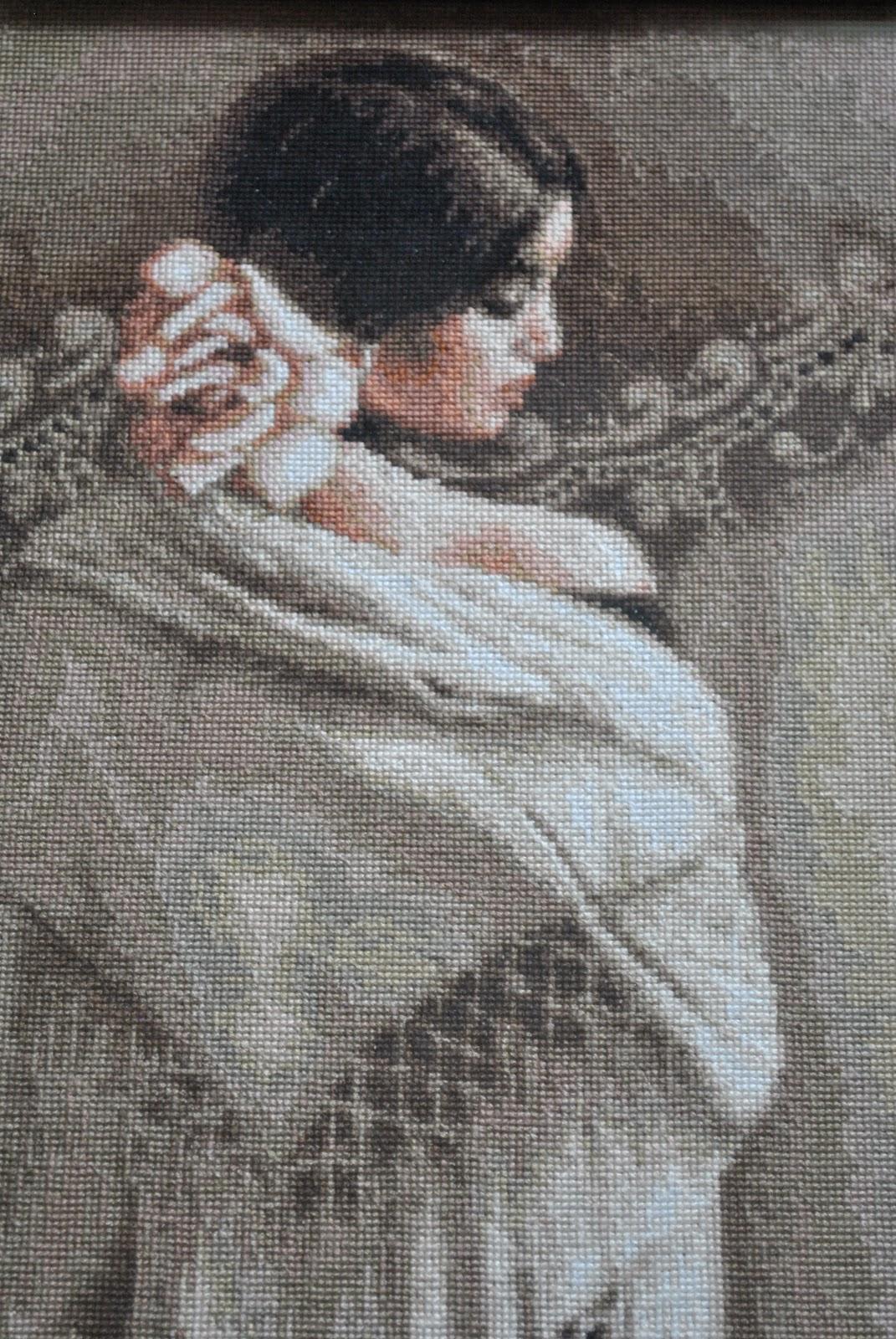 Вышивка испанка с шалью 94