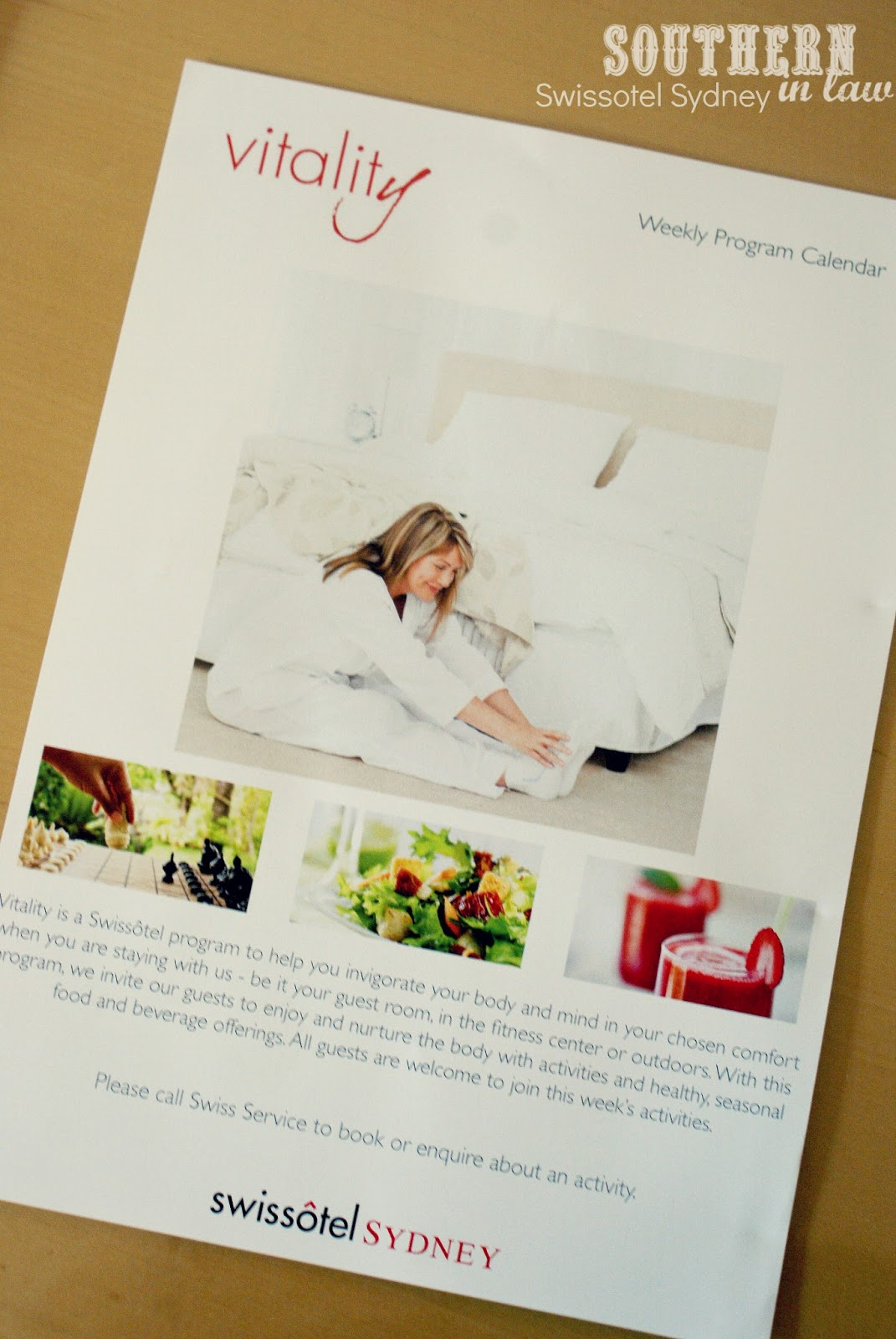 Swissotel Sydney Room Service Menu