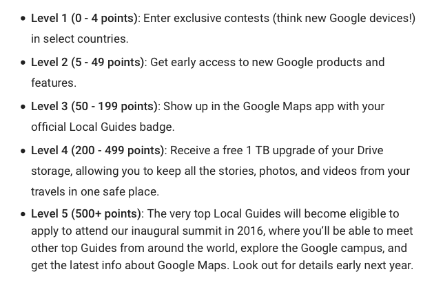 Google Using Points To Boost User Reviews, Beef Up Maps Content : eAskme