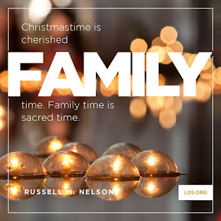 Christmastime is cherished family time. Family time is sacred time.