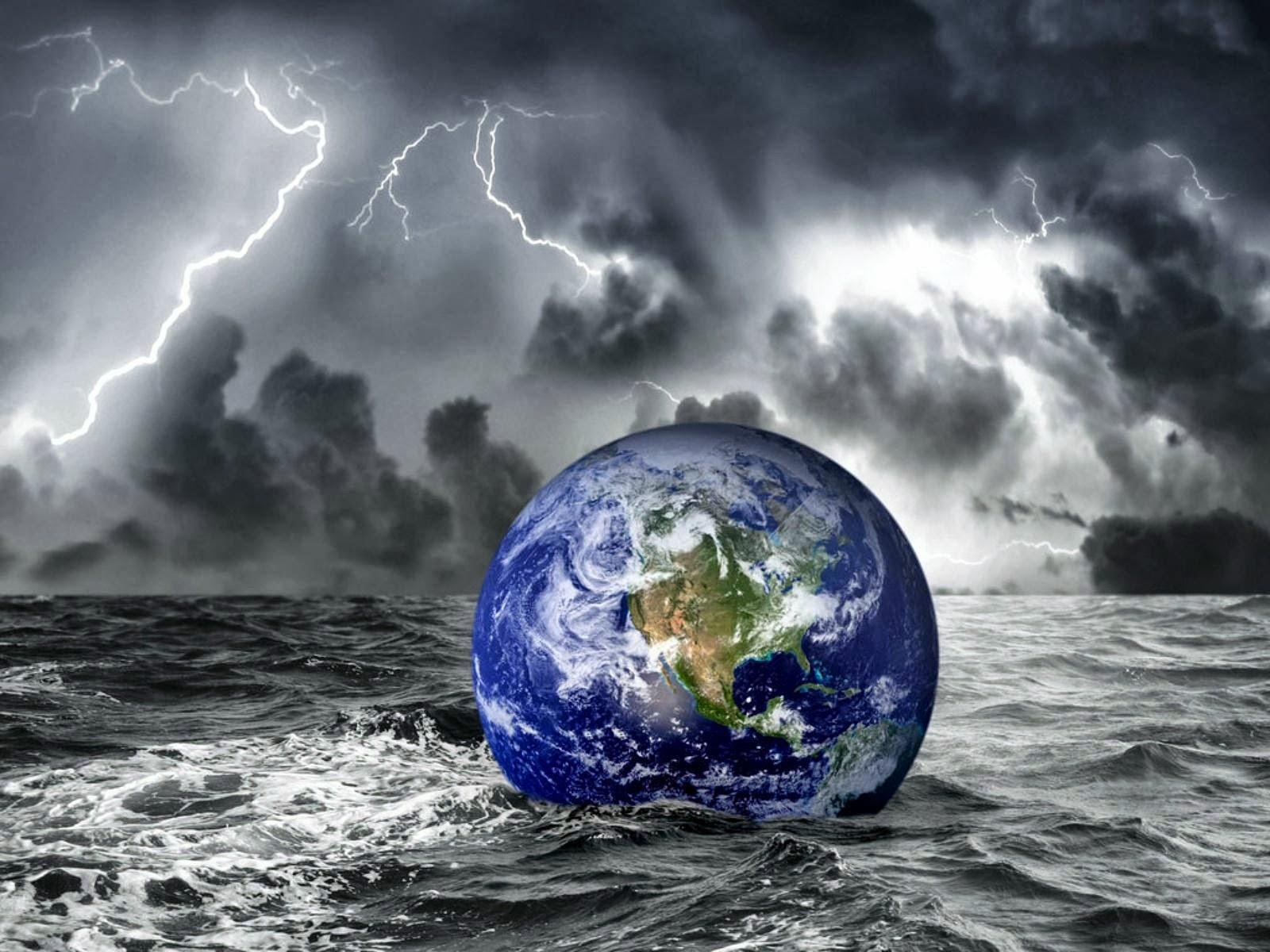 Imágenes Hilandy: Fondo de Pantalla Abstracto planeta tierra en el mar