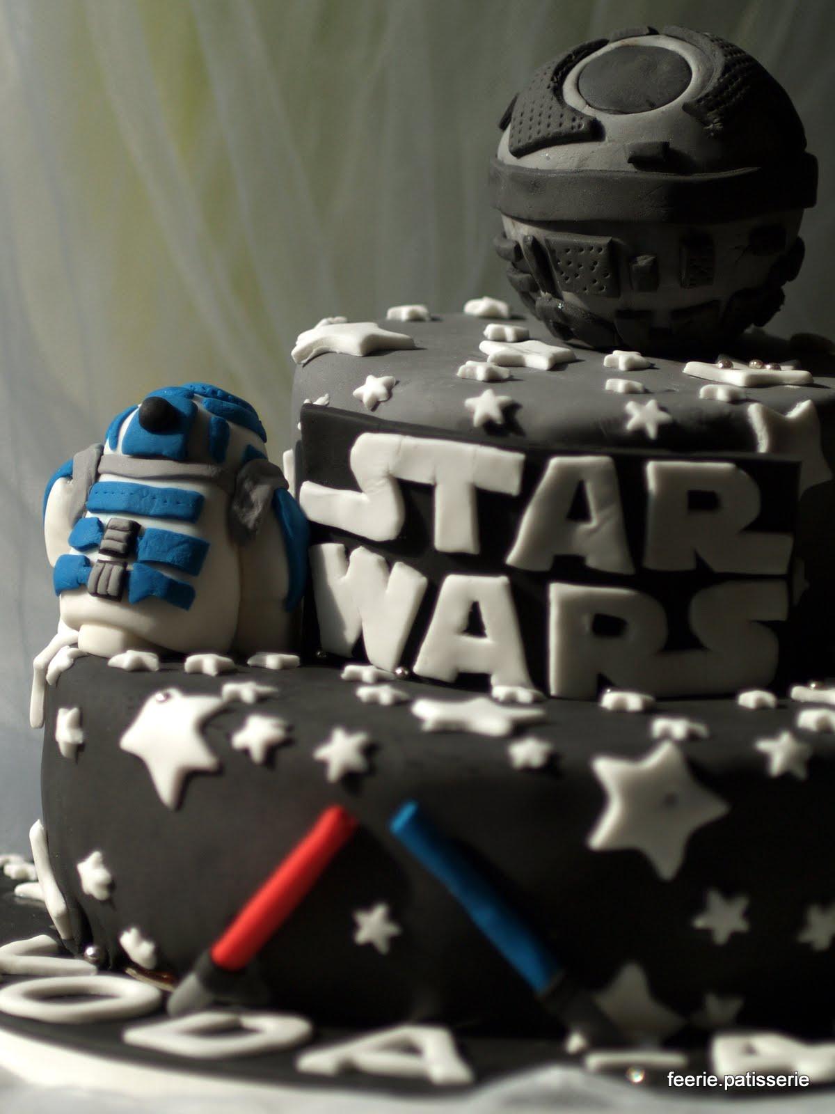 Bien-aimé Féerie & Pâtisserie: Gateau Star Wars pour un fan de l'Etoile Noire VK62