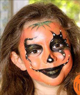 Caritas pintadas dise o calabaza fiestas de halloween - Calabazas de halloween pintadas ...