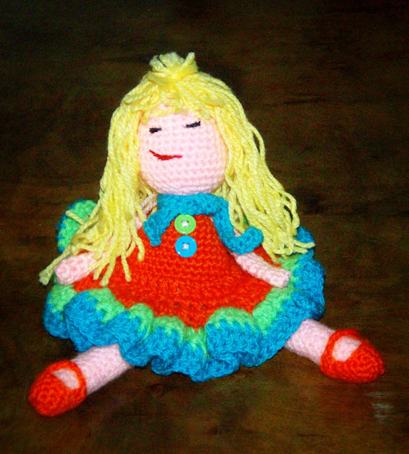hand crochet doll toy handmade