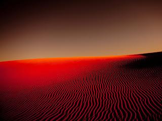 Nightfall in Desert