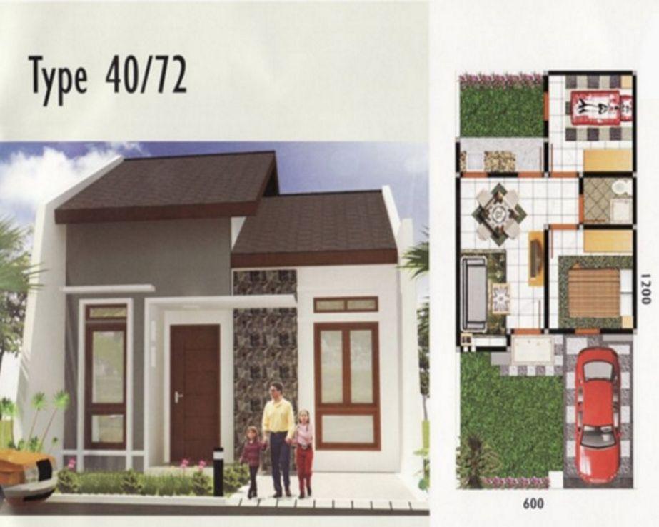 model denah rumah type 40 yang populer