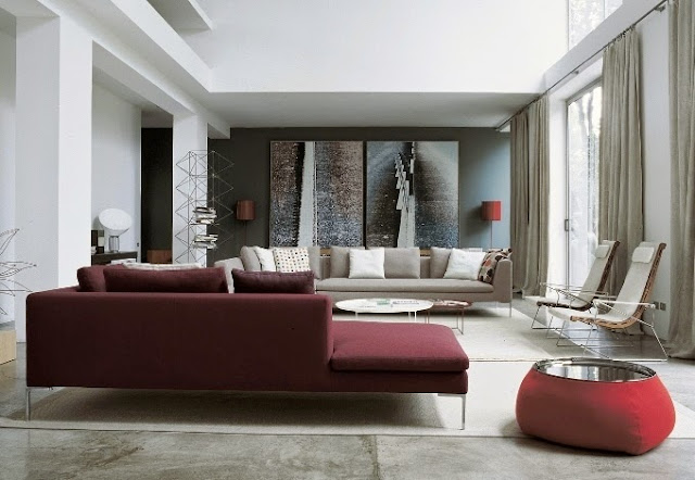 painting ideas for living room with burgundy furniture