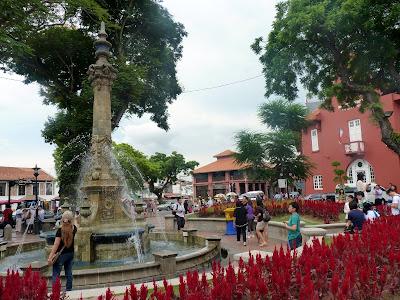 fountain Queen Victoria, Dutch square, Melaka