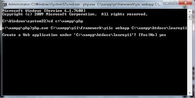 Install YII Framework on XAMPP Windows 7