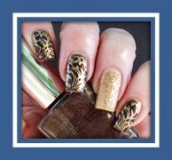 TAGS: Nailart Stampednails,stampednailart, stampnailart, stamping, nailstamping, MAYBELLINE, BOLD GOLD, PURE ICE, BARE IT ALL, I WON'T TELL, gold, brown