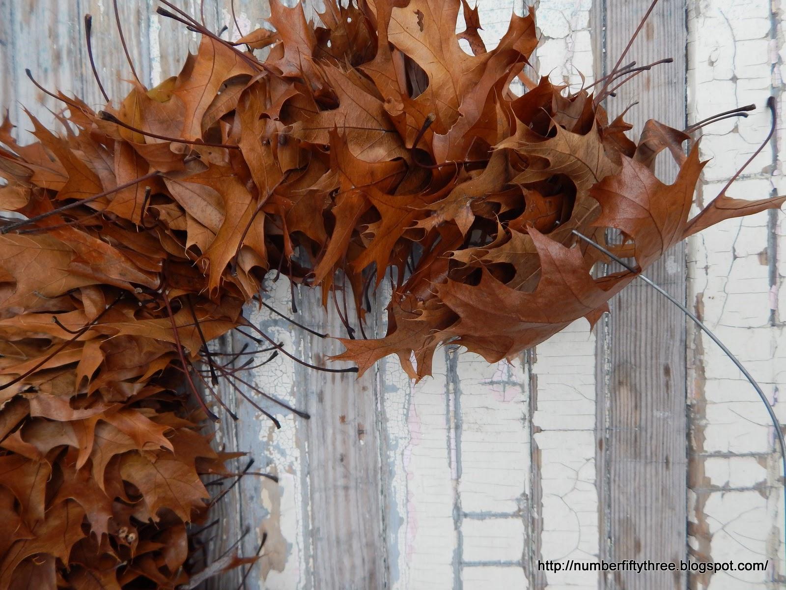 Easy oak leaf wreath