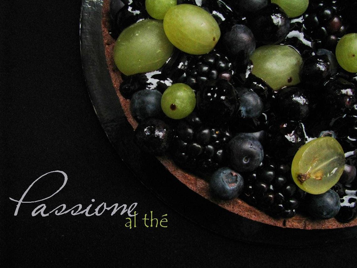 crostata di frutta con thè nero