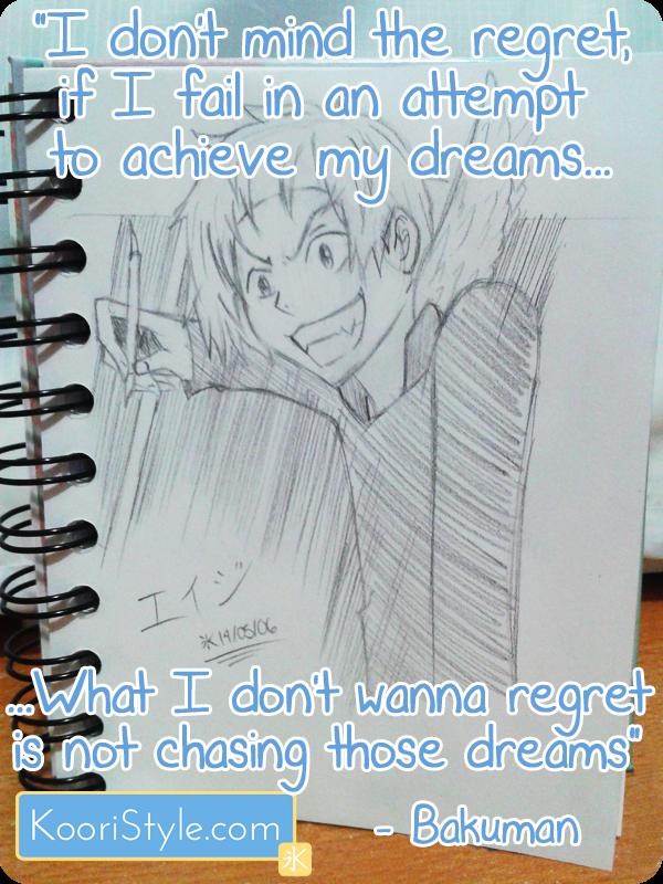 Koori KooriStyle Kawaii Challenge Feel Good Blogging Blogger Blog Quote Bakuman Anime