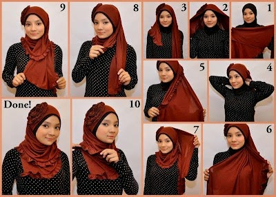 Trik Memakai Hijab Modern