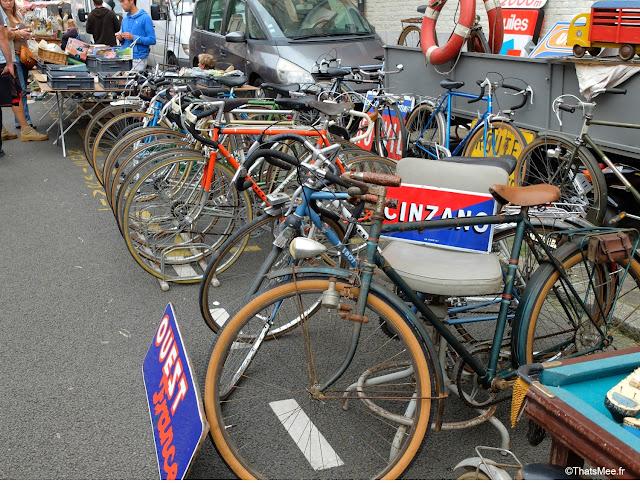Braderie de LiIle 2014 et 2015, vélos bicyclette vintage Champs de Mars La Deule brocante braderie Lille ThatsMee.fr