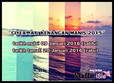 http://cikhanicruzier.blogspot.my/2016/01/giveaway-kenangan-manis-2015.html#.VpWDSF6aJHU