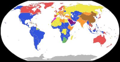Ba�kanl�k Sistemiyle Y�netilen �lkeler Haritas�