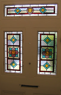 stained glass door panels Balham
