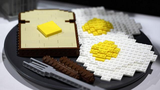 Lego - Plato con dos huevos fritos