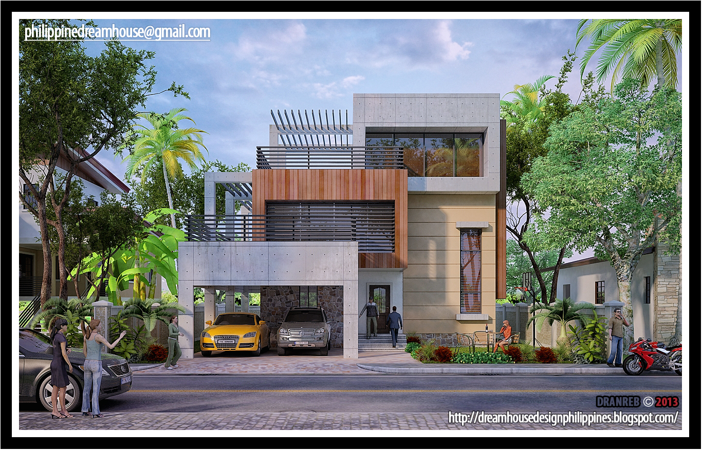Three storey modern house house design for Modern house design 2015 philippines