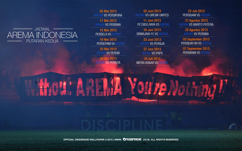 Wallpaper Jadwal Arema Malang Indonesia ISL Edisi 11 Februari 2013