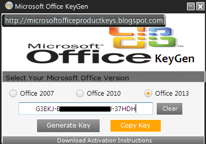 Microsoft Office Keygen 2013 Free Download