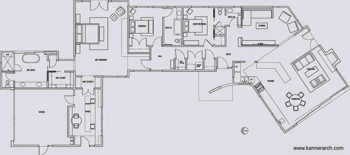 Arquitectura de casas bonita casa blanca minimalista en - Planos de la casa blanca ...