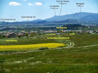 La Plana de Vic i el Montseny des del trencall al Jovell