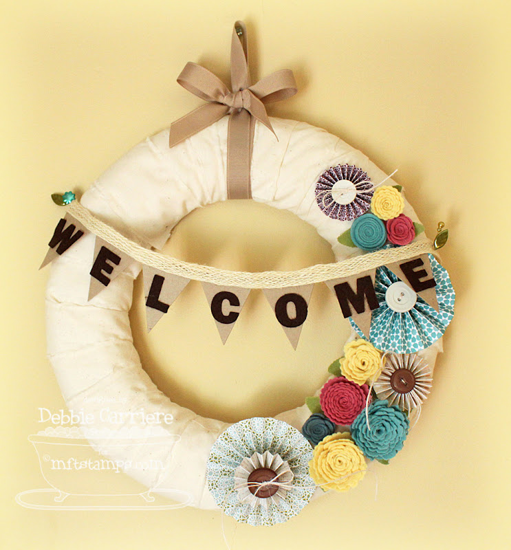 A Simple Diversion Welcome Wreath Mft Creative Challenge
