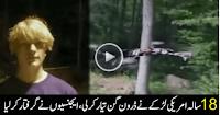 built gun-firing drone