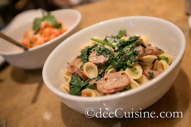Orecchiette with sausage and broccoli rabe at Quattro Pazzi in Stamford, CT
